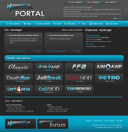 Portal sieci serwerów