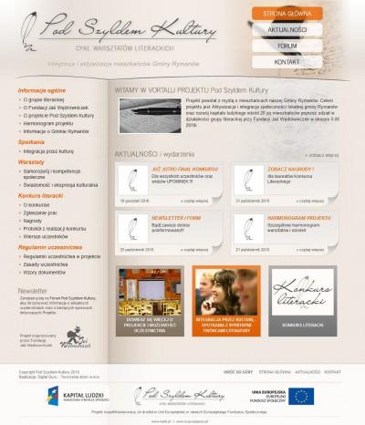 Strona www projektu unijnego
