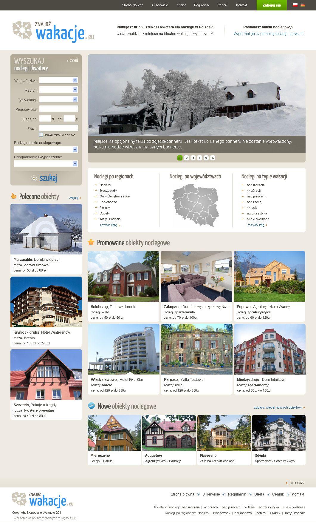 Baza noclegowa i portal turystyczny